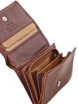 Purse Leather Katana Brown basile 853108-vue-porte