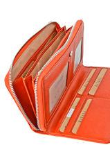 Continental Wallet Leather Katana Orange vachette gras 853128-vue-porte