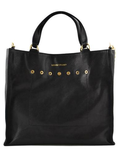 Longchamp Paris Rocks Handbag Black