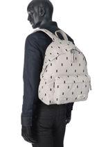 Backpack 1 Compartment Eastpak Beige pbg authentic modern PBGK620M-vue-porte