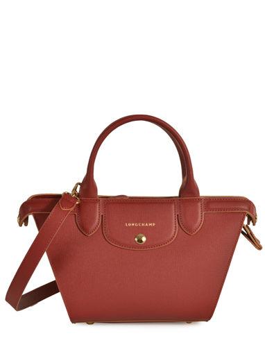 Longchamp Le pliage héritage Sac porté main Rouge