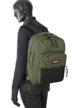 Backpack 2 Compartments Eastpak Green pbg authentic PBGK060-vue-porte