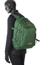 Backpack 3 Compartments Eastpak Green pbg core series PBGK207-vue-porte