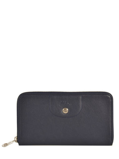 Longchamp Le pliage cuir Wallet Blue