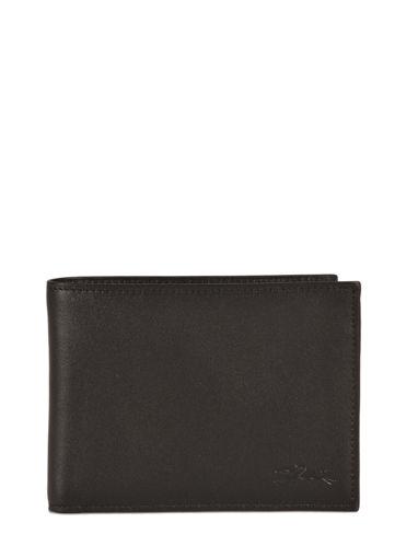 Longchamp Baxi cuir Porte billets/cartes Noir