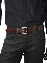 Belt Adjustable Petit prix cuir Brown classic 14409-vue-porte