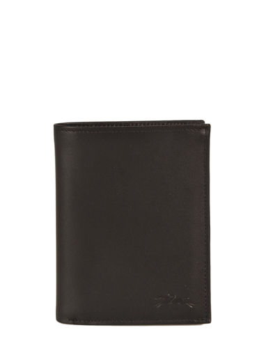 Longchamp Baxi cuir Wallet Black