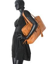 Sac Shopping A4 Kristin Cuir Pieces Marron kristin 17081977-vue-porte