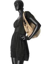 Sac Porte Epaule Sauvage Leather Hexagona Beige sauvage 415034-vue-porte