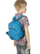 Backpack Mini Kipling Blue back to school 8568-vue-porte
