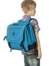 Cartable 2 Compartiments Kipling Bleu back to school 12074-vue-porte