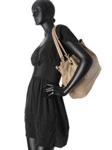 Sac Porte Epaule Sauvage Leather Hexagona Beige sauvage 415042-vue-porte