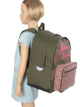 Backpack Ikks Multicolor london 63817-vue-porte