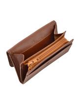 Porte Monnaie A Rabat Leather Etrier Brown blanco 600562-vue-porte
