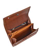 Purse With A Flap Leather Etrier Brown blanco 600215-vue-porte