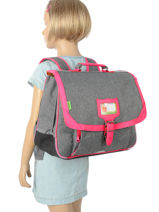 Satchel 2 Compartments With Matching Pencil Case Tann