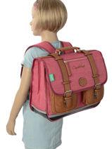 Satchel 2 Compartments Cameleon Pink vintage VINCA38-vue-porte