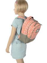 Backpack 2 Compartments Cameleon Gray retro RET-PRI-vue-porte