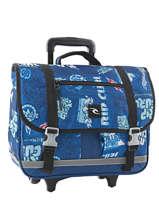 Cartable à Roulettes 2 Compartiments Rip curl Bleu heritage logo BBPJG4