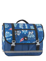 Cartable 2 Compartiments Rip curl Bleu heritage logo BBPJA4
