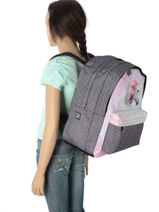 Backpack 2 Compartments Laissez lucie faire Pink flawless LFC12090-vue-porte