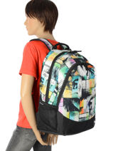 Backpack 2 Compartments Rip curl Multicolor ocean glitch BBPIR4-vue-porte