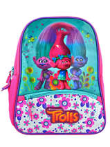 Backpack 1 Compartment Trolls Multicolor flower 48322