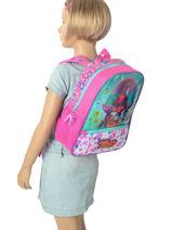 Backpack 1 Compartment Trolls Multicolor flower 48322-vue-porte