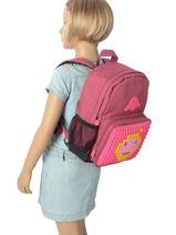 Backpack Mini Eggman Red silicone KIDEGGIS-vue-porte