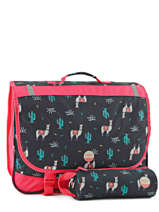Satchel 2 Compartments With Matching Pencil Case Roxy Black kid RLBP3022