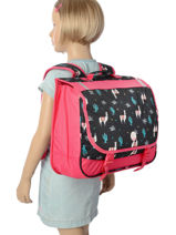 Satchel 2 Compartments With Matching Pencil Case Roxy Black kid RLBP3022-vue-porte