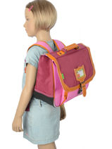 Satchel 1 Compartment With Matching Pencil Case Tann
