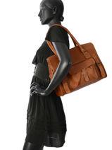 Shopper Vintage Leather Paul marius Beige vintage M-vue-porte