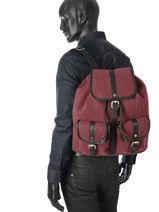 Backpack Jost Red farum 1385-vue-porte