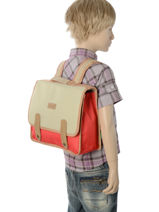 Satchel 1 Compartment Kickers Red preference kids 701330PF-vue-porte