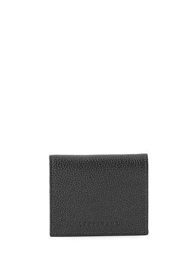 Longchamp Le foulonné Porte-monnaie Noir