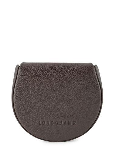 Longchamp Le foulonné Porte monnaie Marron