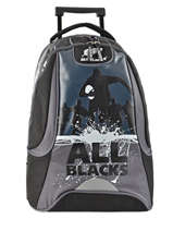Wheeled Backpack 2 Compartments All blacks Black all black 173A204R