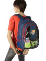 Backpack 3 Compartments Fc barcelone Black 1899 173B204B-vue-porte