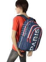 Backpack 3 Compartments Paris st germain Multicolor paris 173P204B-vue-porte