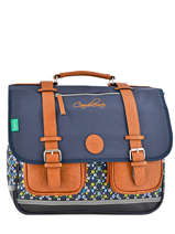 Satchel 3 Compartments Cameleon Blue vintage VINCA41
