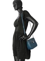 Shoulder Bag Vintage Leather Nat et nin Blue vintage NOVAPBG-vue-porte
