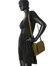 Shoulder Bag Vintage Leather Nat et nin Green vintage BIANCPBG-vue-porte