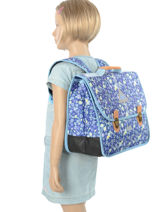 Satchel 2 Compartments With Free Pencil Case Poids plume Blue be all over color PCO15387-vue-porte