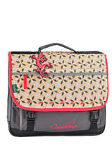 Cartable 3 Compartiments Cameleon Rose new basic NBA-CA41