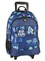 Sac à Dos à Roulettes 2 Compartiments Rip curl Bleu heritage logo BBPJC4