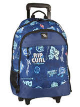 Wheeled Backpack 2 Compartments Rip curl Blue heritage logo BBPJC4
