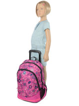 Wheeled Backpack 2 Compartments Rip curl Red mandala LBPND4-vue-porte