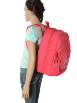 Backpack 2 Compartments Pepe jeans Red samantha 66124-vue-porte