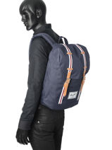 Backpack 1 Compartment Herschel Black offset 10066-O-vue-porte